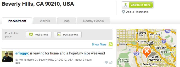 Brightkite.com 90210